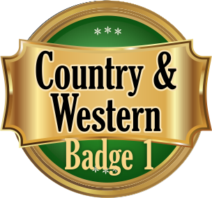 Country & Western Badge 1