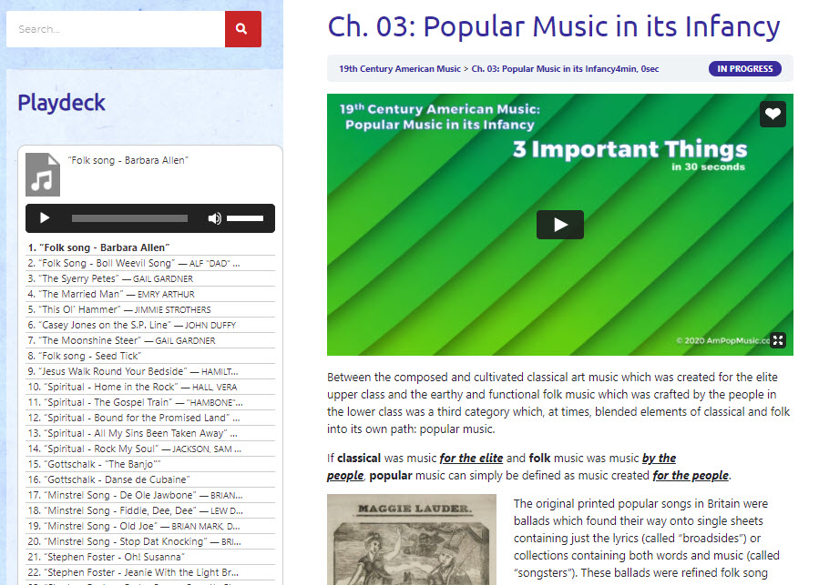 AmPopMusic Study Unit