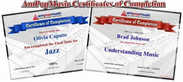 Certificates of Completion Sample