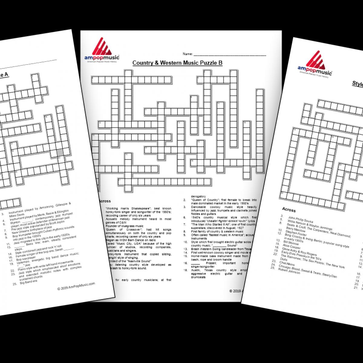 Crossword Puzzles - Set of Three